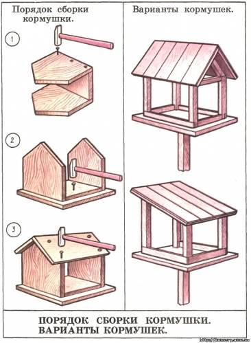 Схемы кормушек для птиц