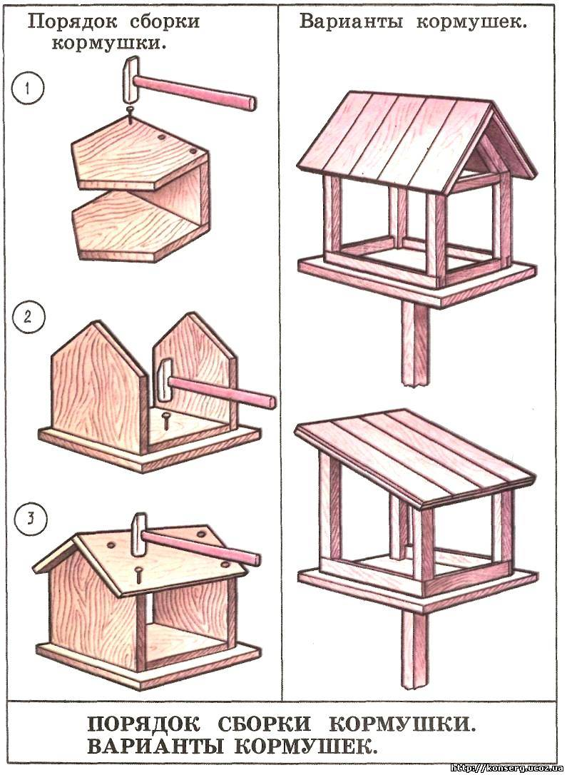 Рисунок как сделать кормушку 414